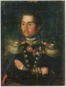 Портрети молодого військогвого. I половина  XIX ст. Полотно, олія.