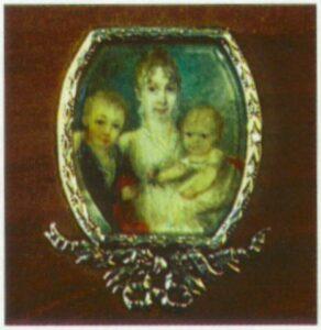 Мініатюра. Початок  XIX ст. Кістка: акварель.