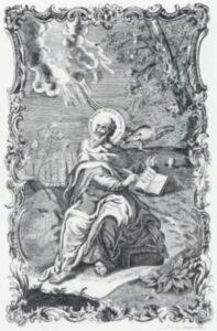 С. Юфімов. Св. Іоан Богослов. 1766р. Гравюра за малюнком С. Второва..